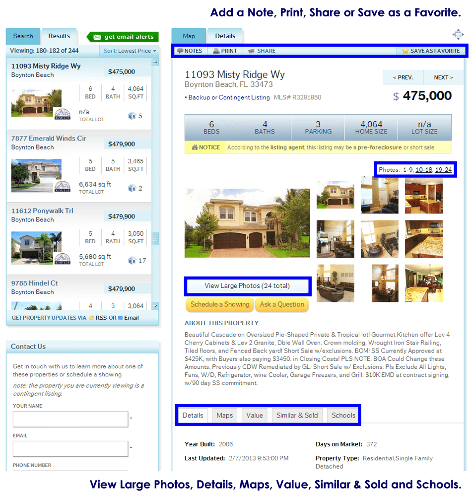 HomeRep.com Home and Property Search Details
